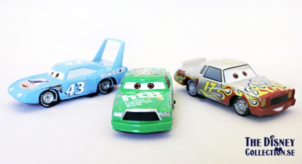 Deluxe Piston Cup Die Cast Vehicle Set_the king_Chick Hicks_Darrell Cartrip