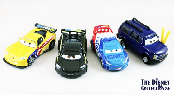 cars-RACE DAY FAN 4 CAR GIFT PACK